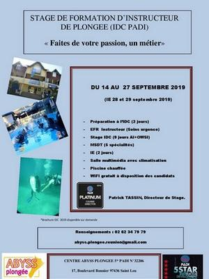 Stage de Formation d'Instructeur de Plongée (IDC PADI)